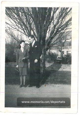 Brunet i la seva esposa (Font: arxiu particular de Ferran Brunet)