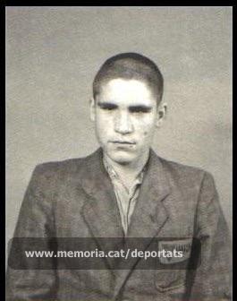 Fèlix Labara Pena quan formava part del Comando Poschacher (Font: Catàleg de l'exposició Imagenes y Memoria de Mauthausen. Éditions Tiresias).