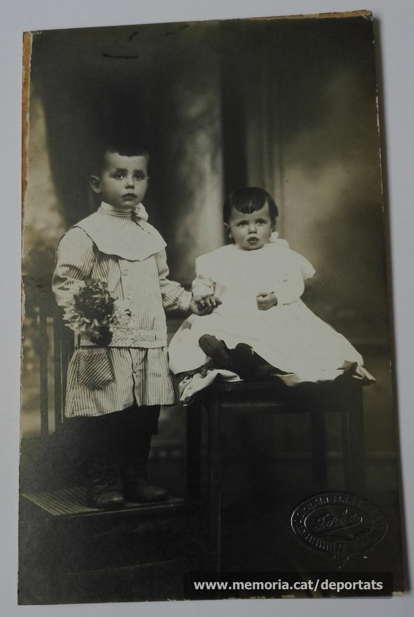 Pere Parés i la seva germana Nati