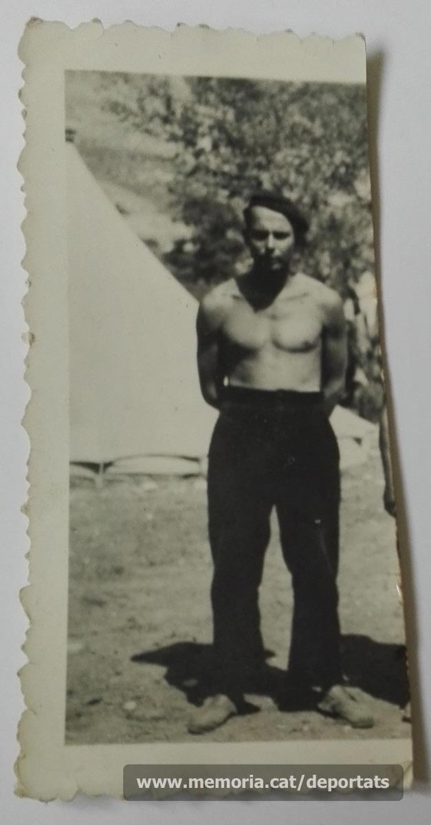 Pere Parés a la Companyia de Treballadors Estrangers de l'exèrcit francès, el 4-1-1940