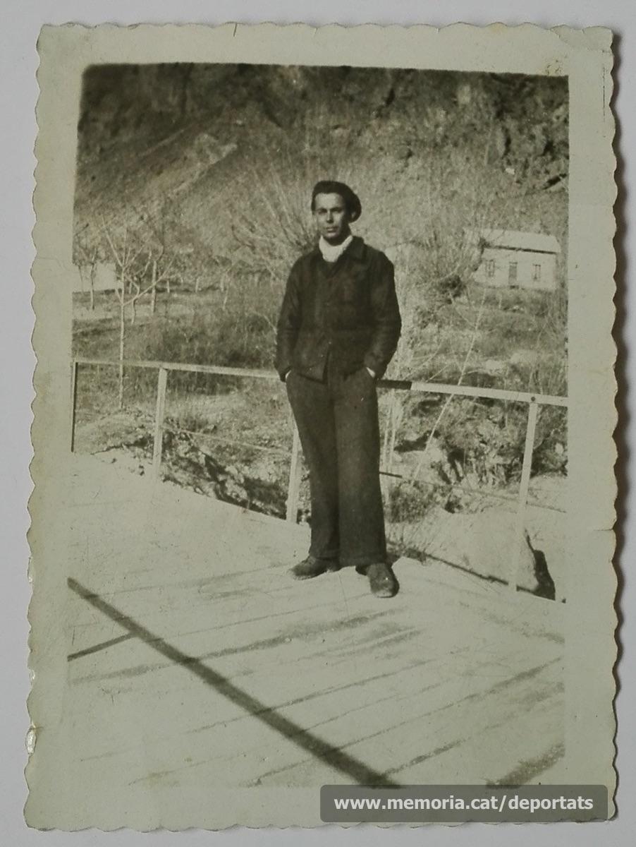 Pere Parés a la Companyia de Treballadors Estrangers de l'exèrcit francès, el 17-3-1940