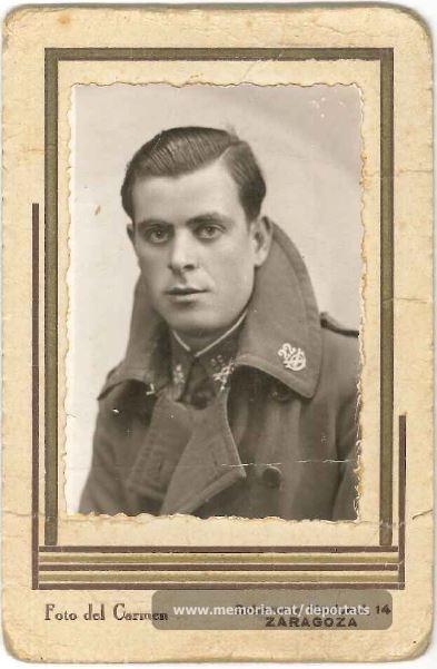 Jaume Real vestit de militar (Font: arxiu particular de M. Rosa Colilles Brichs)