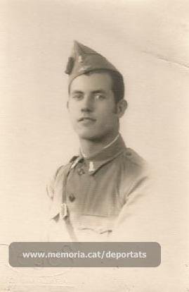 Foto de Joan Sallés fent el servei militar (Font: arxiu particular de Josep Martínez Bardés)