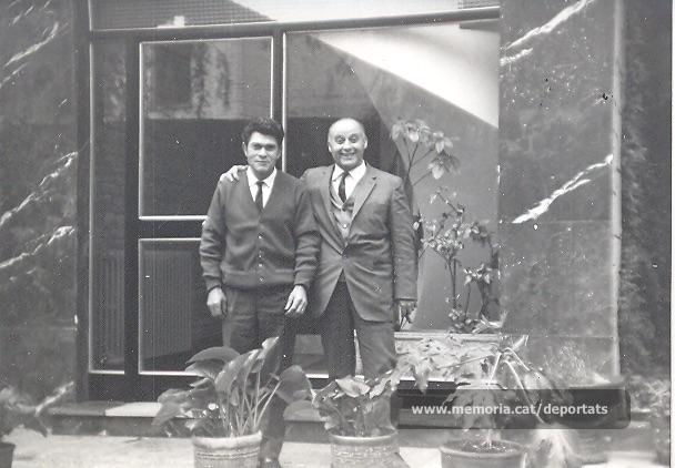 Josep Señal (esquerra) i Jacint Carrió, en data deconeguda. (Font: arxiu particular de Josep Maria Señal)