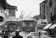 Fotografies de les obres d'obertura del carrer d'Alfons XII i La Plana